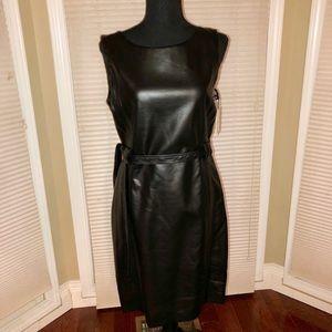 Calvin Klein Faux-Leather Dress
